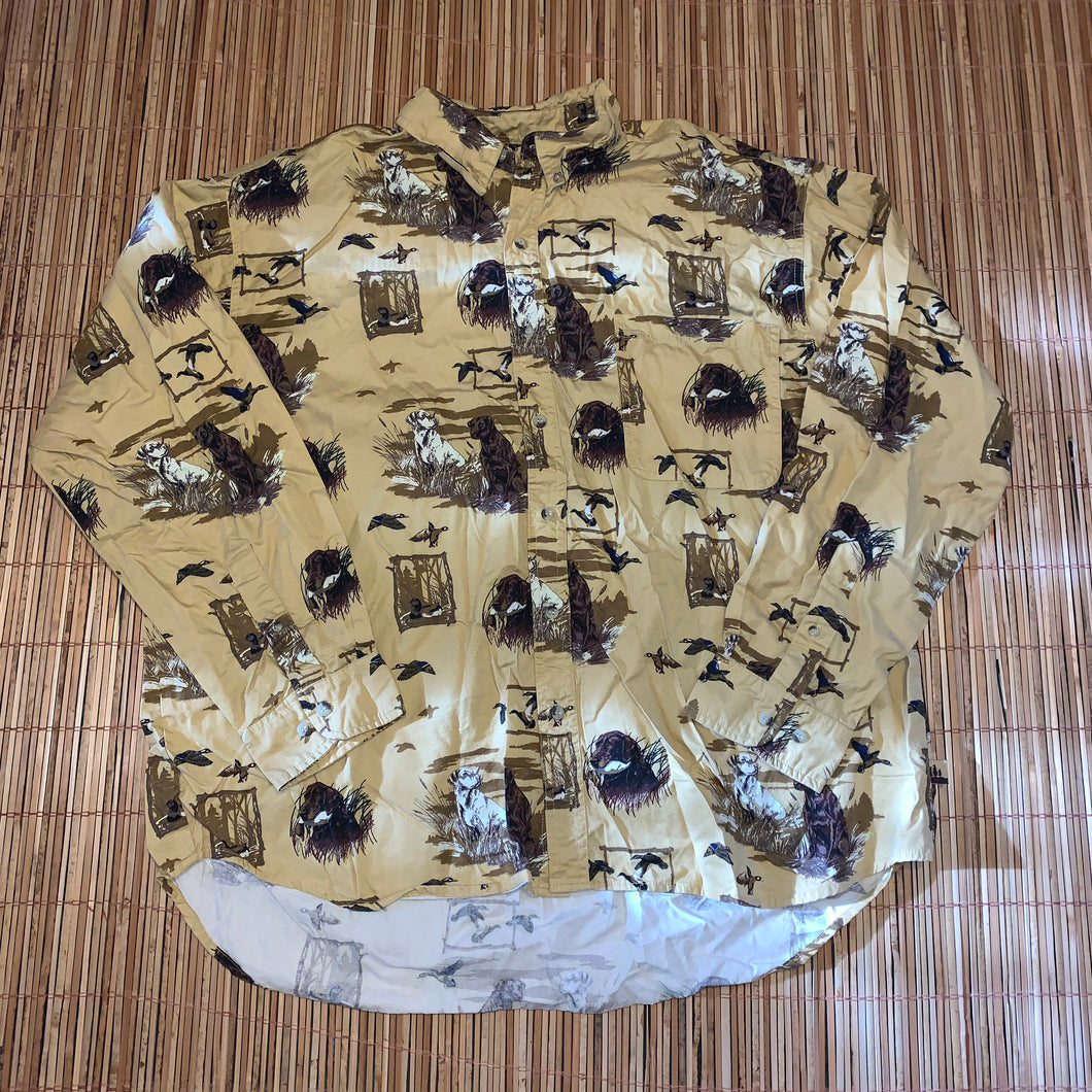 XXL - Duck Hunting Dog Button Up Shirt