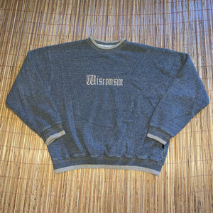 XXL - Vintage Embroidered Wisconsin Sweatshirt