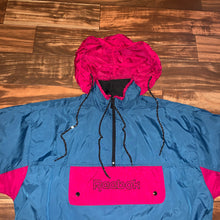 Load image into Gallery viewer, M/L - Vintage Reebok Hooded Front Pocket Windbreaker