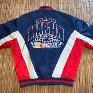 L/XL - Vintage Mark Martin Nascar Racing Jacket