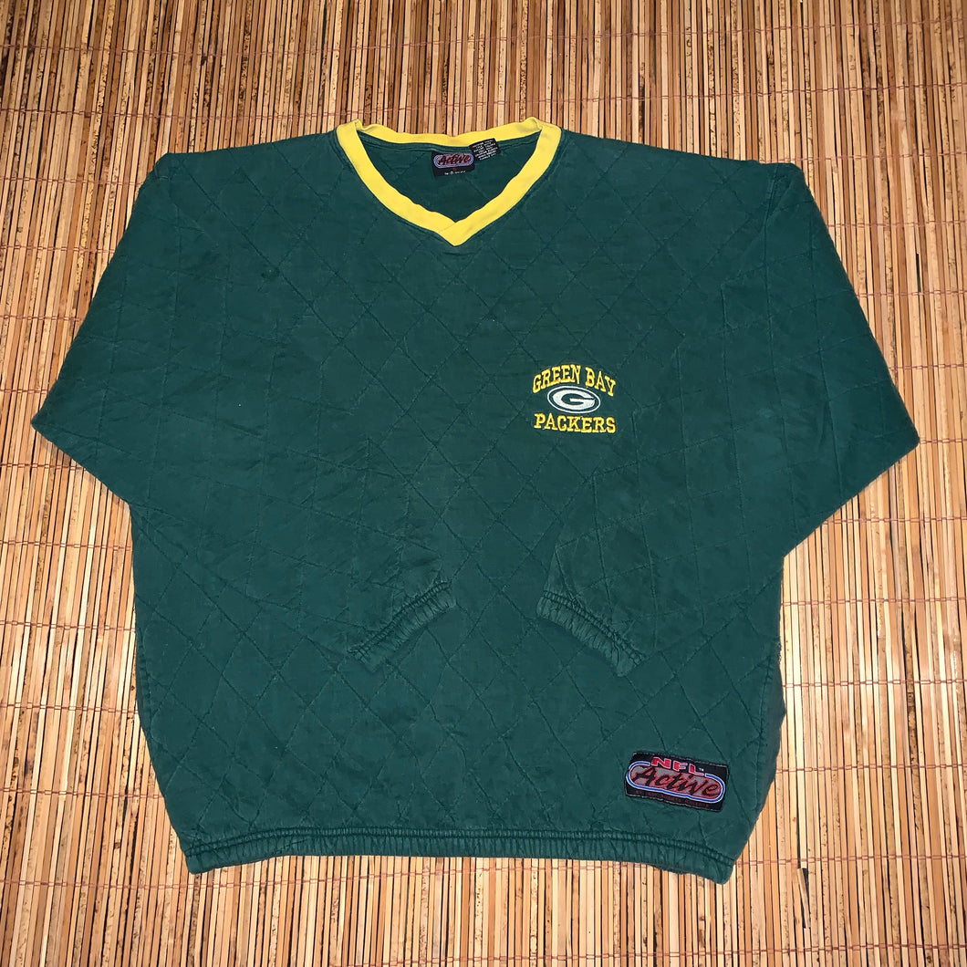 XL - Vintage 1996 Packers Quilted Sweater
