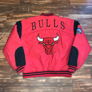 XL - Vintage Chicago Bulls Quilted Nutmeg Jacket