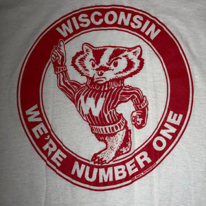 L(See Measurements) - Vintage 1983 Wisconsin Badgers Shirt
