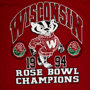 L/XL - Vintage 1994 Wisconsin Badgers Rose Bowl Shirt