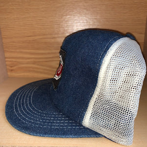 Vintage Phillips 66 Denim Trucker K Products Hat
