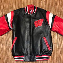 Load image into Gallery viewer, L/XL - Wisconsin Badgers Leather Jacket