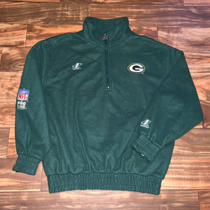 L/XL - Vintage Green Bay Packers 1/4 Zip Fleece