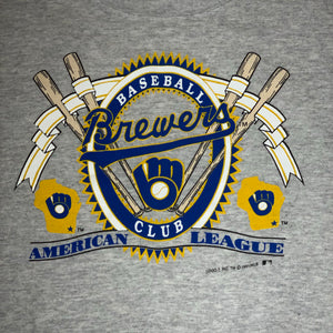 L/XL - Vintage 1991 Milwaukee Brewers Sweater