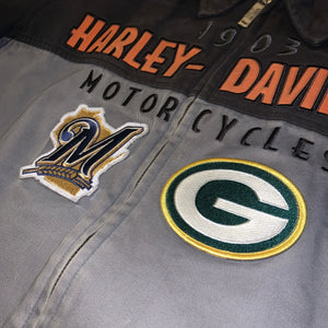 L - Harley Davidson Brewers Packers Highway Zip Jacket