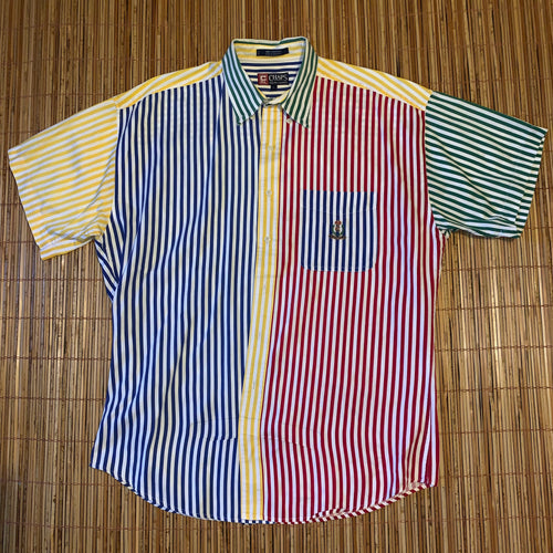 L - Chaps Ralph Lauren Rainbow Striped Shirt