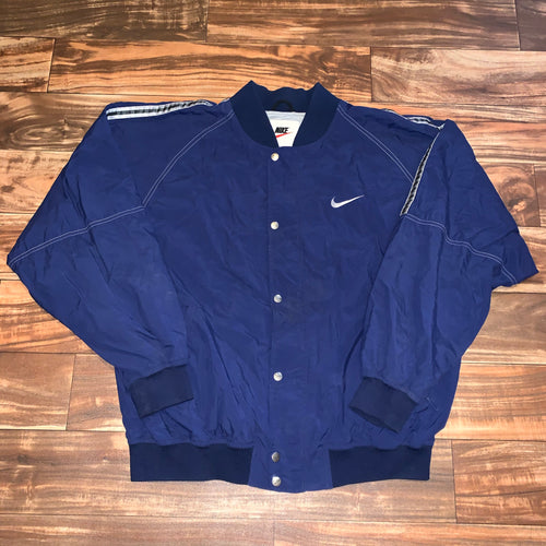 L/XL - Vintage 90s Lined Nike Button Jacket