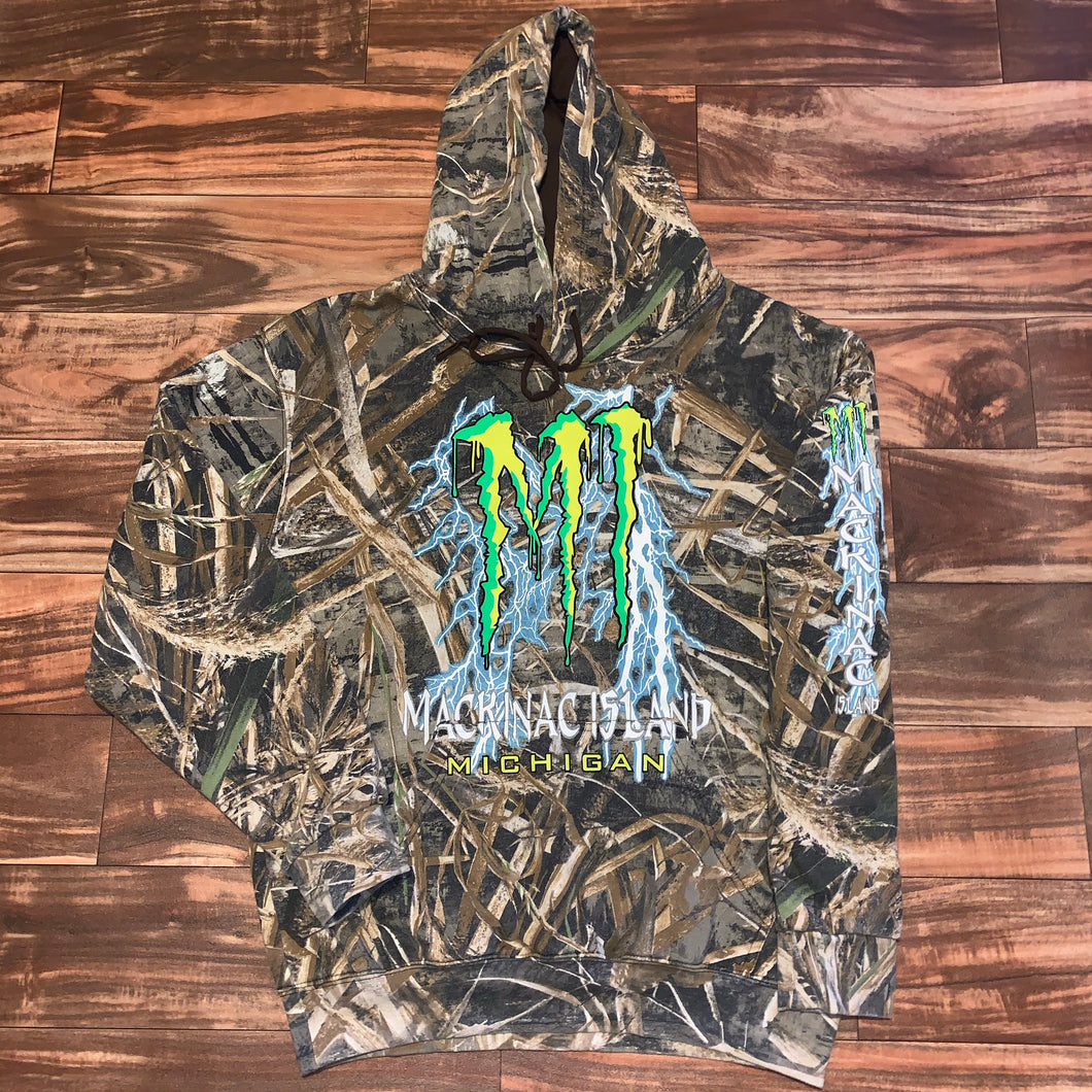 L - Mackinac Island Monster Energy Camo Hoodie