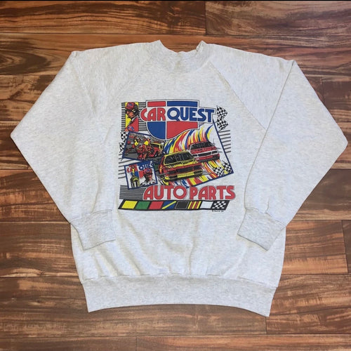 M/L - Vintage 1989 Car Quest Auto Parts Nascar Crewneck
