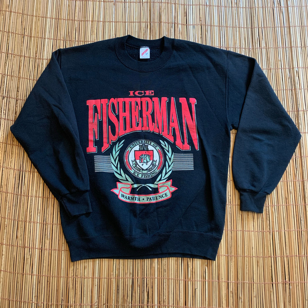 L - Vintage Ice Fishing Crewneck