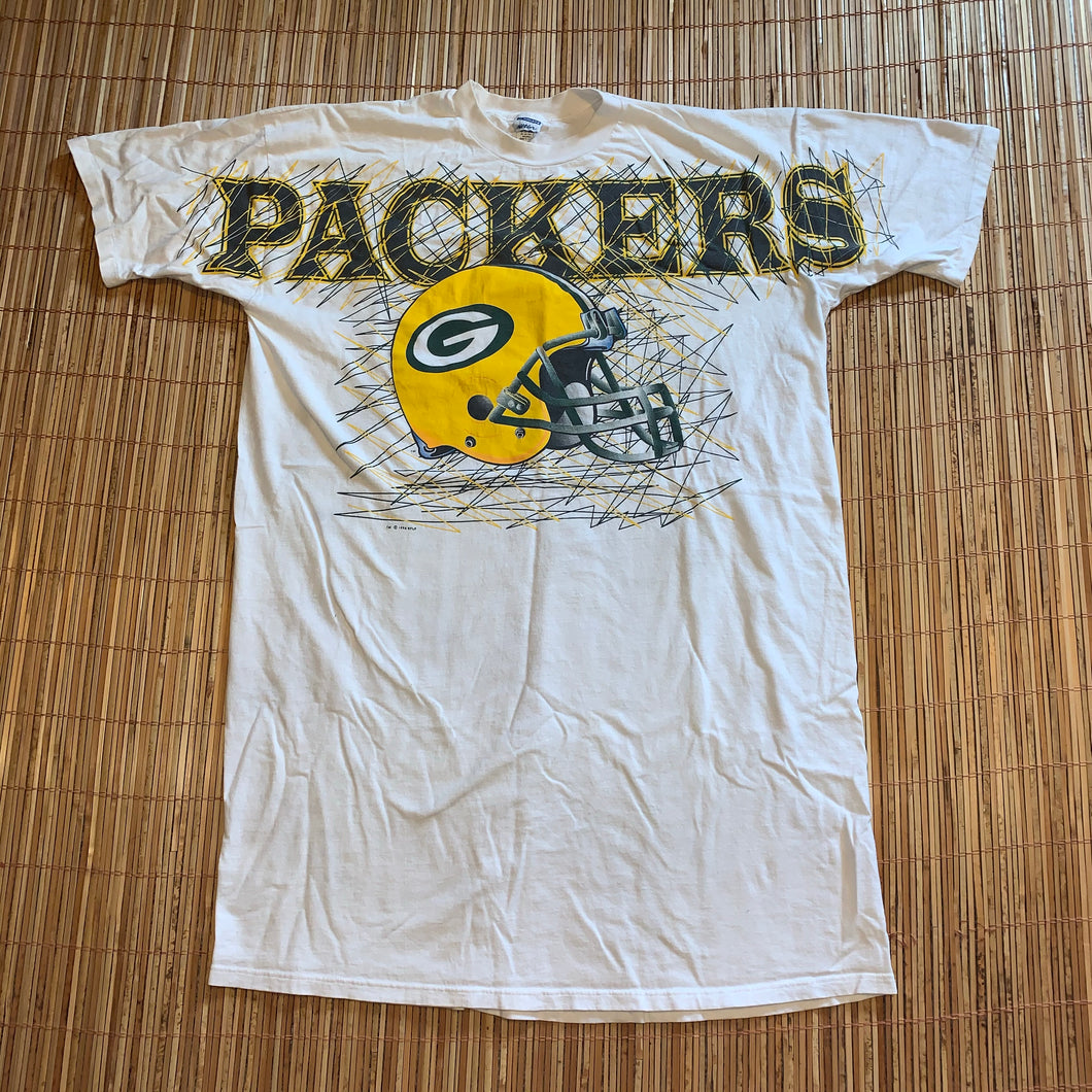 Sleep T - Vintage 1996 Huge Green Bay Packers Gown Shirt