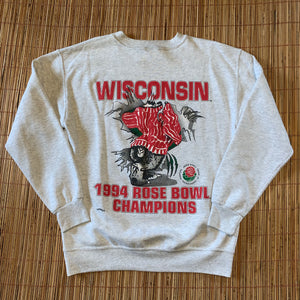 M(Fits L-See Measurements) - Vintage 1994 Badgers Double Sided Rose Bowl Sweater
