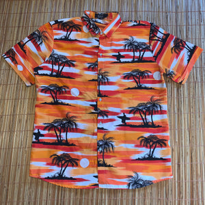 L - Hawaiian Sunset All Over Print Surfing Button Shirt