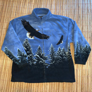 2XL - Bald Eagle Full Zip Nature Fleece
