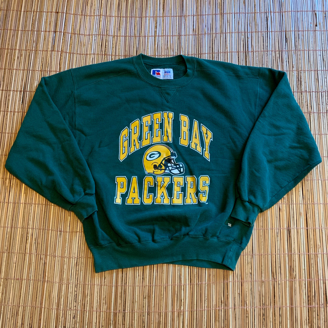 L - Vintage Green Bay Packers Heavy Crewneck