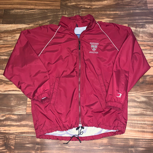 L/XL - Vintage Harvard University Athletics Windbreaker