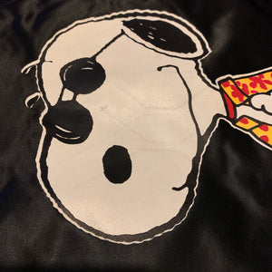 M/L - Vintage Snoopy Joe Cool Satin Jacket