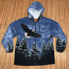 Load image into Gallery viewer, L - Bald Eagle Fleece Hoodie
