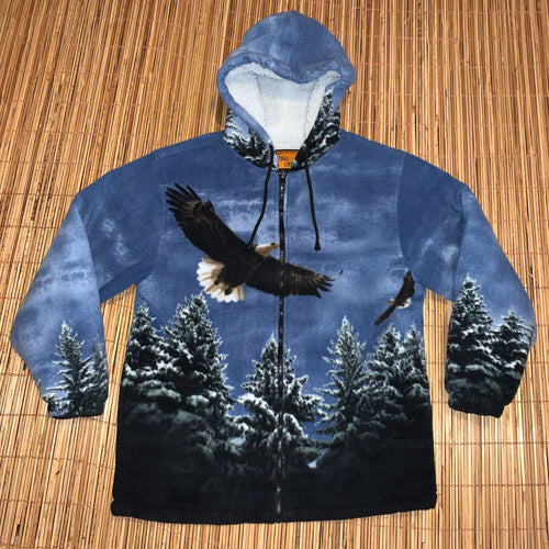 L - Bald Eagle Fleece Hoodie