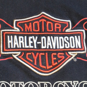XL - Harley Davidson Flaming Embroidered Shirt