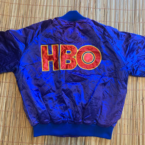 S/M - Vintage HBO Sports Satin Style Jacket