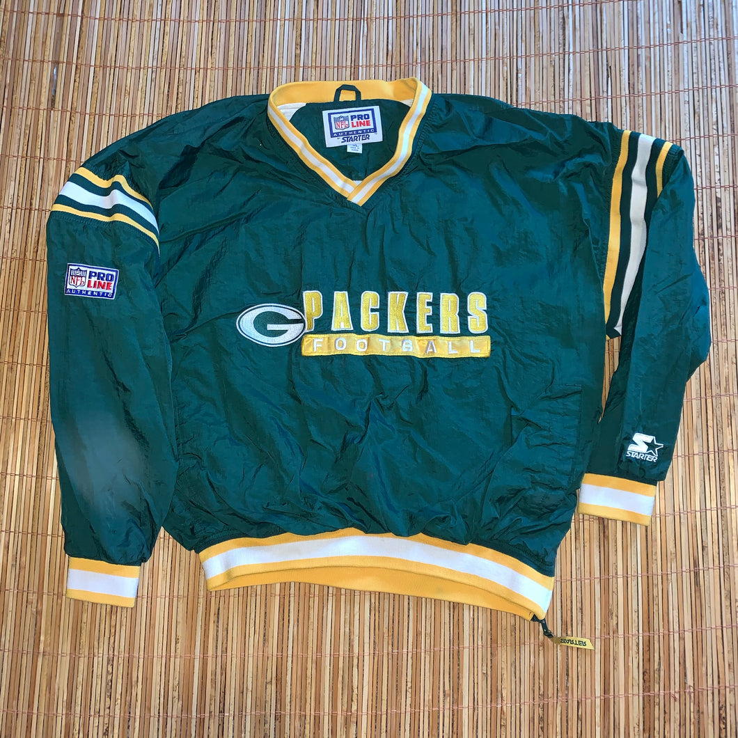 XL - Vintage Green Bay Packers Starter Windbreaker