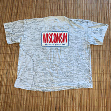 Load image into Gallery viewer, 2X/3X - Vintage Wisconsin Map Shirt