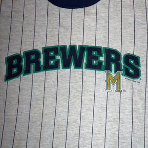 Youth L - Vintage 90s Milwaukee Brewers Shirt