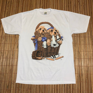 XL - Vintage 1995 Basket Puppy Shirt