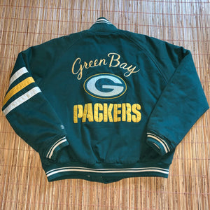 L/XL - Vintage Green Bay Packers Varsity Jacket