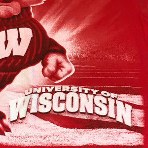 L - Wisconsin Badgers All Over Print Shirt
