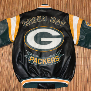 L - Green Bay Packers Leather Jacket