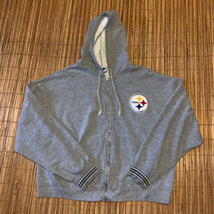 XL - Vintage Pittsburgh Steelers Zip Hoodie