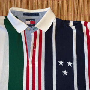 L/XL - Tommy Hilfiger Striped Star Polo