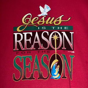 XL - Vintage 1997 Jesus Is The Reason Crewneck