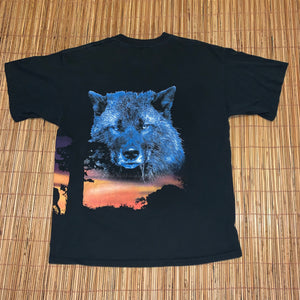 XL - Vintage 2-Sided Cry Of The Wild Wolf Shirt