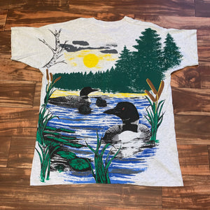 XL - Vintage Loon All Over Print RARE Shirt