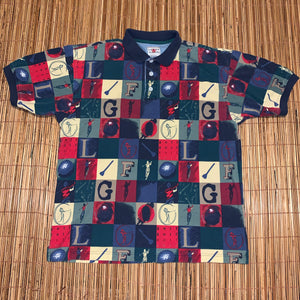 L - Vintage Golf All Over Print Shirt