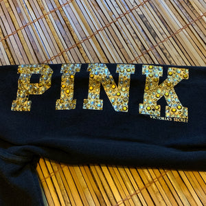Women's M - Victoria Secret Pink Gem Stone Hoodie