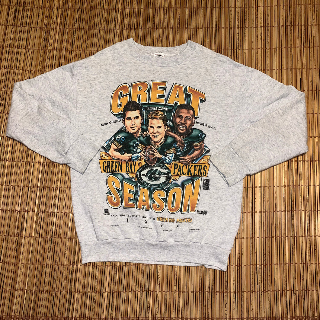 L(See Measurements) - Vintage 1995 Caricature Packers Sweater