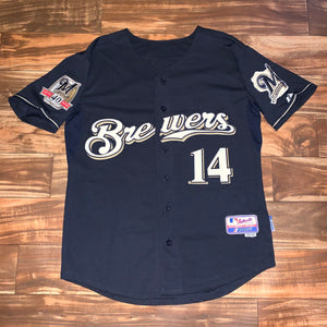 L/XL(48) - Milwaukee Brewers Casey McGehee Stitched 40th Anniversary Jersey