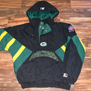 XL/XXL - Vintage Green Bay Packers Classic Starter Jacket