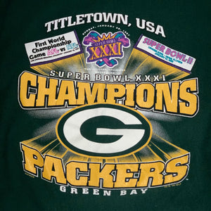 L - Vintage 1997 Packers Lee Super Bowl Sweater