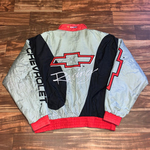 XL - Vintage Chevrolet Racing Quilted Jacket