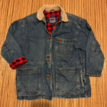 Load image into Gallery viewer, Women's 16W - Vintage Denim Flannel Lined Jacket