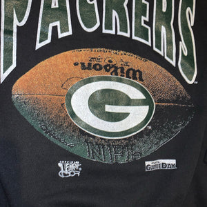 L - Vintage Green Bay Packers Football Crewneck